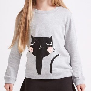 Cute cat crewneck sweatshirt NEW WITH TAGS